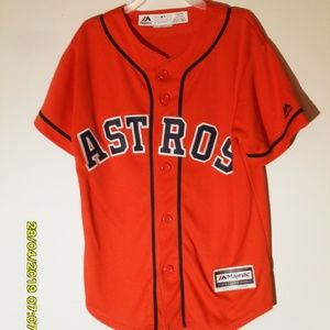 BOY'S ASTROS SPRINGER #4 JERSEY SIZE SMALL